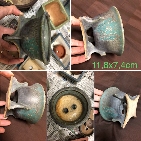 Chậu handmade dáng lạ P283