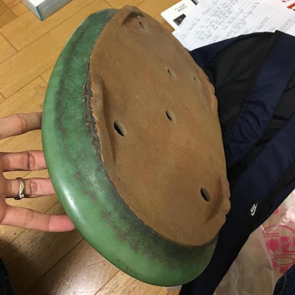 Chậu Oval men xanh chuối PLD583