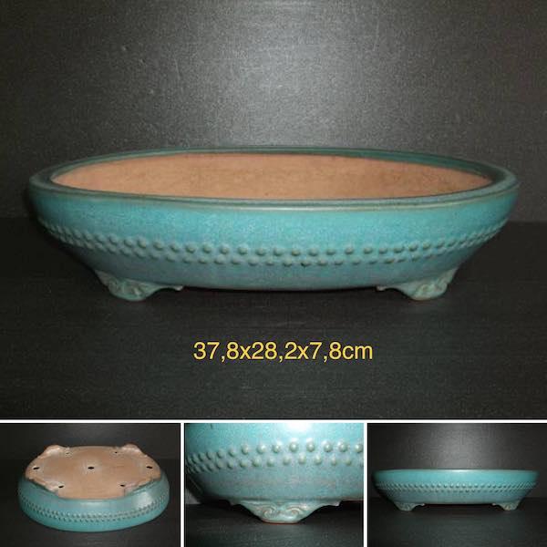 Chậu bonsai dáng Oval chấm bi PLD709