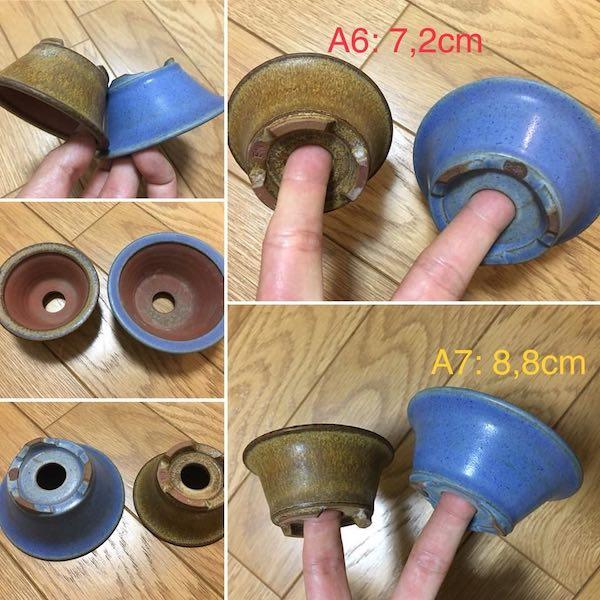 Cặp chậu bonsai mini dáng tròn PLD434