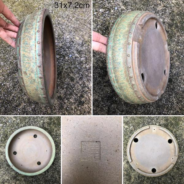 Chậu bonsai dáng tròn PLD428