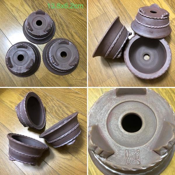 Bộ ba chậu mini dáng tròn PLD406