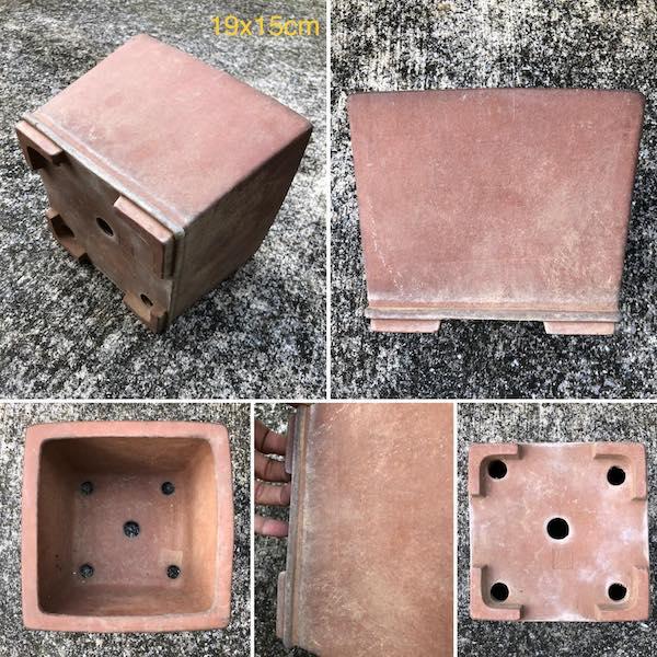 Chậu bonsai dáng vuông PLD378