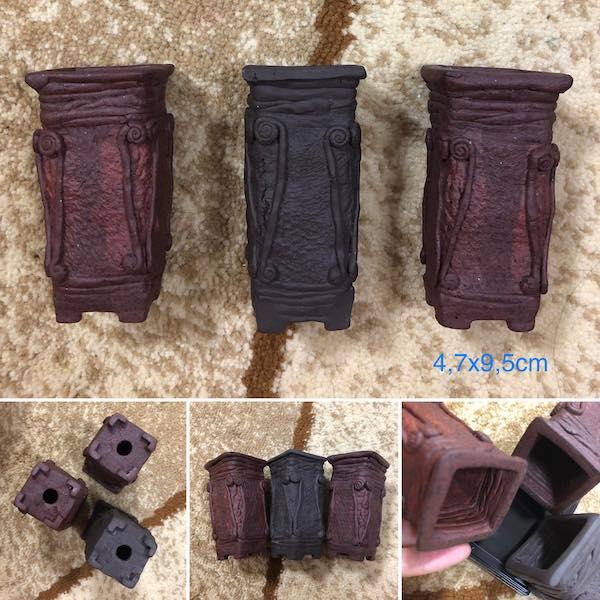 Bộ ba chậu thủ công mini PLD375
