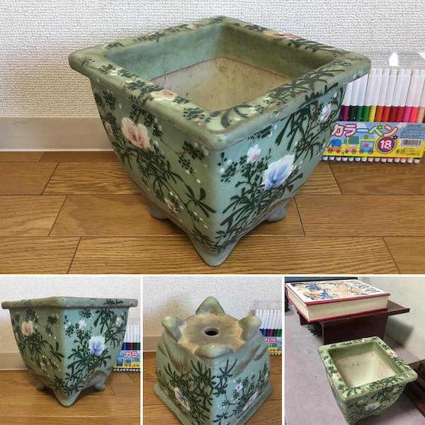 Chậu vuông bonsai cổ PLD332