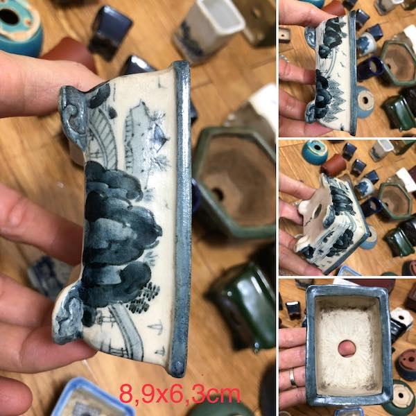 Chậu bonsai mini chữ nhật PLD740