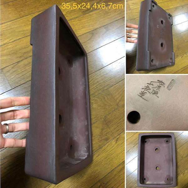 Chậu bonsai chữ nhật PLD726