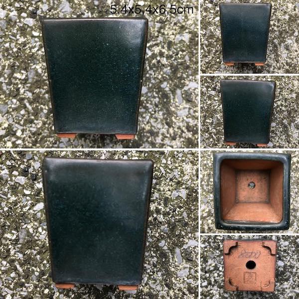 Chậu bonsai vuông men xanh PLD702