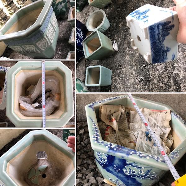 Chậu vuông bonsai cổ PLD672