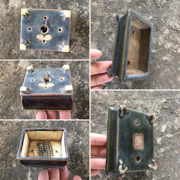 Cặp chậu mini chữ nhật PLD662