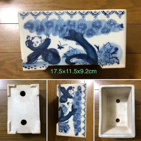 Chậu mini bonsai dáng chữ nhật PLD658