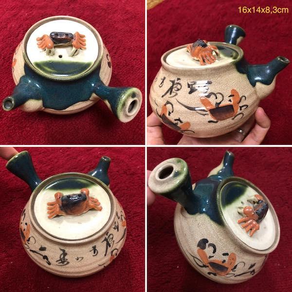 Bình trà thủ công hình cua PLD363