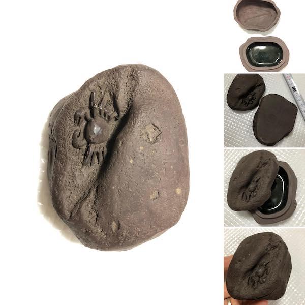 Khay gốm hình cua PLD341