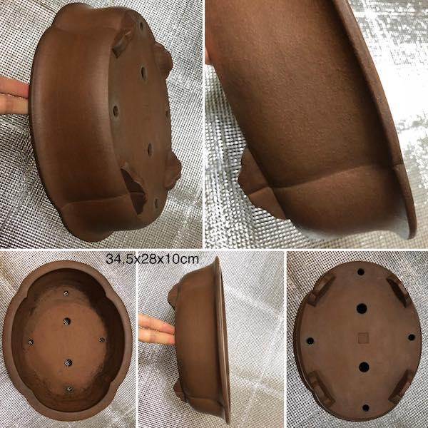 Chậu bonsai dáng Oval PLD168